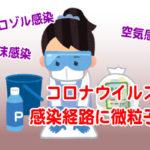 コロナウイルスの感染経路に微粒子?飛沫感染・エアロゾル感染・空気感染の違い