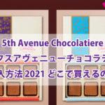 5th Avenue Chocolatiere(フィフスアヴェニューチョコラティア)購入方法 2021 どこで買えるの?