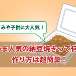 納豆レシピ つまみの納豆焼きは子供にも大人気!【殿堂入り】